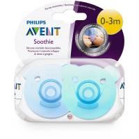 Philips Avent - Lot de 2 Sucettes Soothie Garçon - 0-3 mois