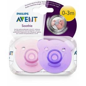 Philips Avent - Lot de 2 Sucettes Soothie Fille - 0-3 mois