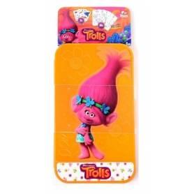 Trolls Poppy - Etui de coloriage de voyage - Crayons, feuillets et stickers