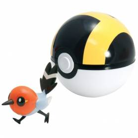 Pokemon - Poké Ball Passerouge + Hyper Ball - Tomy