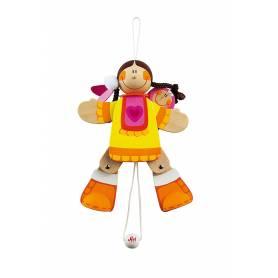 Sevi - 81998 - Pantin Indienne en bois - 14 cm
