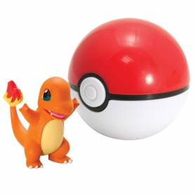 Tomy - Figurine Salameche Pokemon - Poké Ball