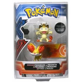 Tomy - Figurines Pokémon - Feunnec vs Miaouss