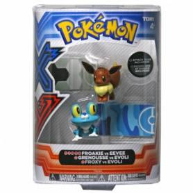 Tomy - Figurines Pokémon - Grenousse vs Evoli