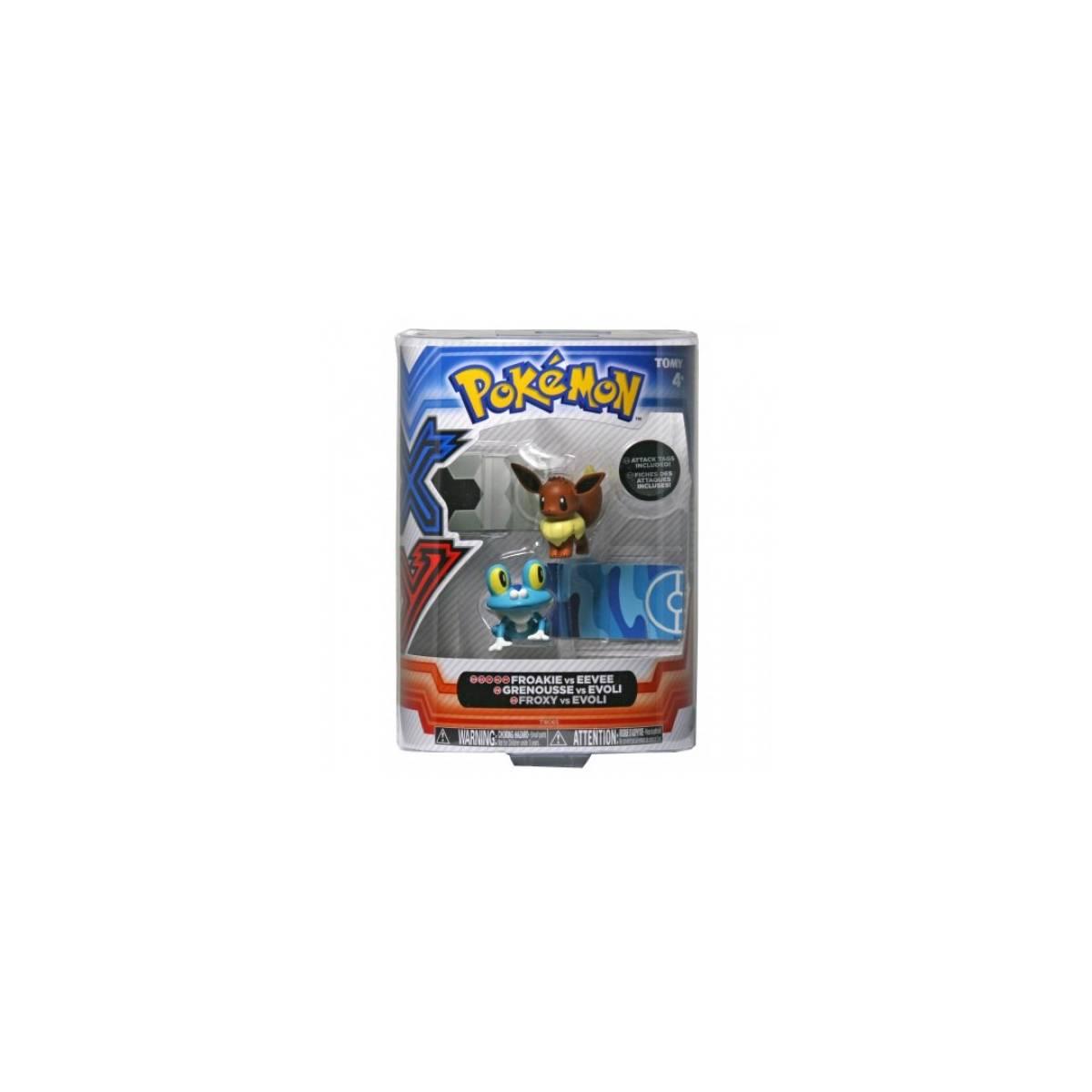 Tomy - Figurines Pokémon - Grenousse vs Evoli