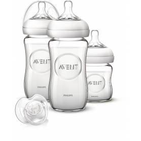 Philips Avent Kit naissance Verre Natural - 3 biberons en verre Natural