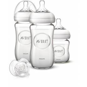 Philips Avent Kit Verre Natural - 3 biberons en verre Natural
