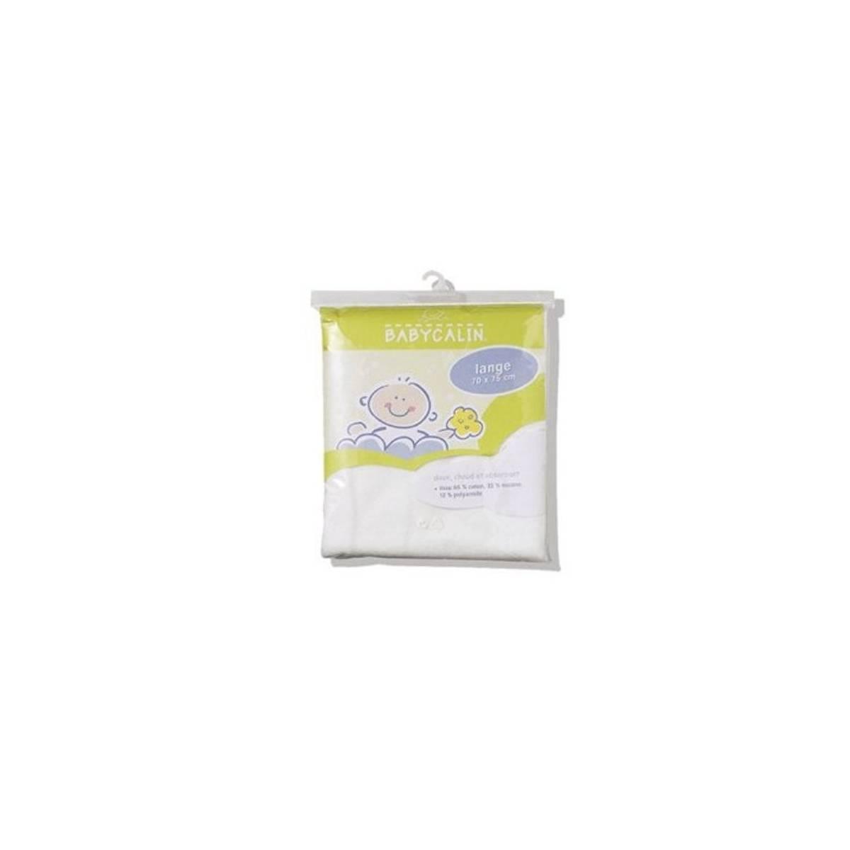 Babycalin Couche Lavable Lange blanc 70 x 75 cm