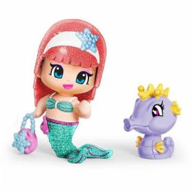 Pinypon - Figurine Sirène et Son Hippocampe Violet