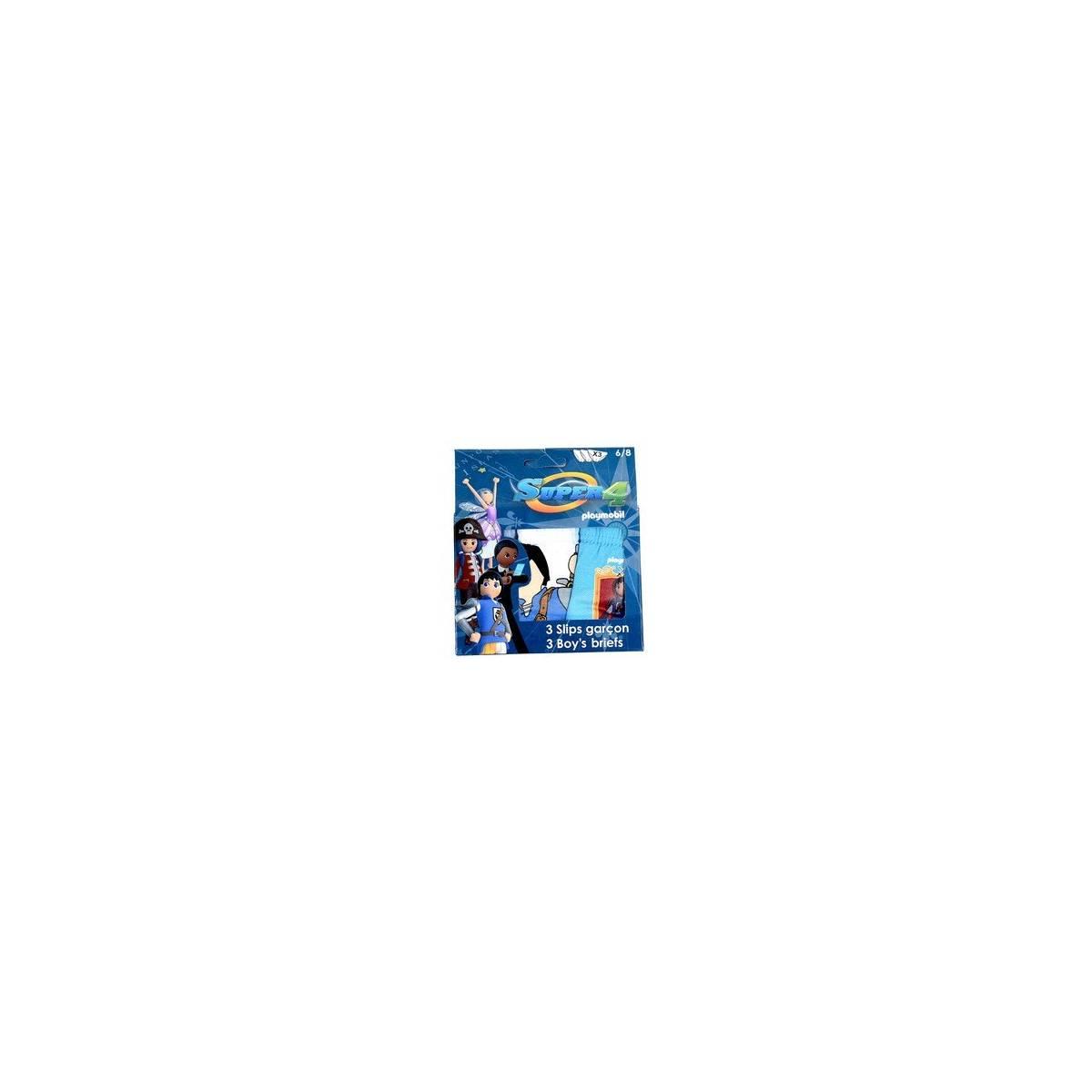Playmobil - Super 4 - Lot de 3 slips de 2 à 8 ans