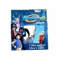 Playmobil - Super 4 - Lot de 3 slips de 2 à 8 ans