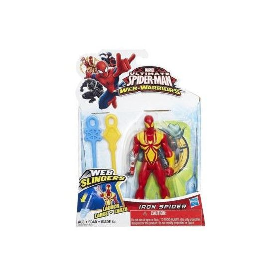 Figurine Iron Spider Ultimate Spider-Man Web Slingers - 12 cm