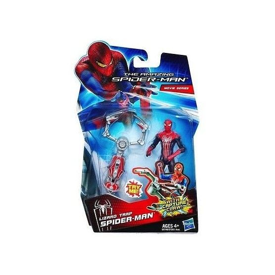 The Amazing Spider-Man - Figurine Spider-Man et son Piège à Lézard - 10 cm