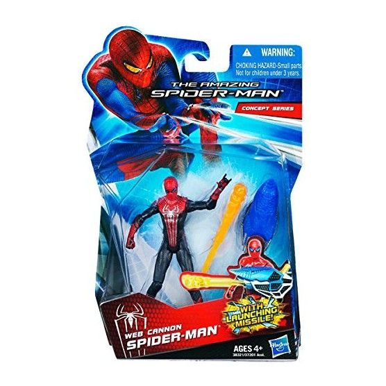 The Amazing Spider-Man - Figurine Spider-Man et son Canon-Toile d'Araignée - 10 cm