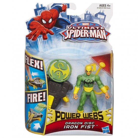 Ultimate Spider-Man - Power Webs - Figurine Iron Fist - Dragon Disc - 10 cm