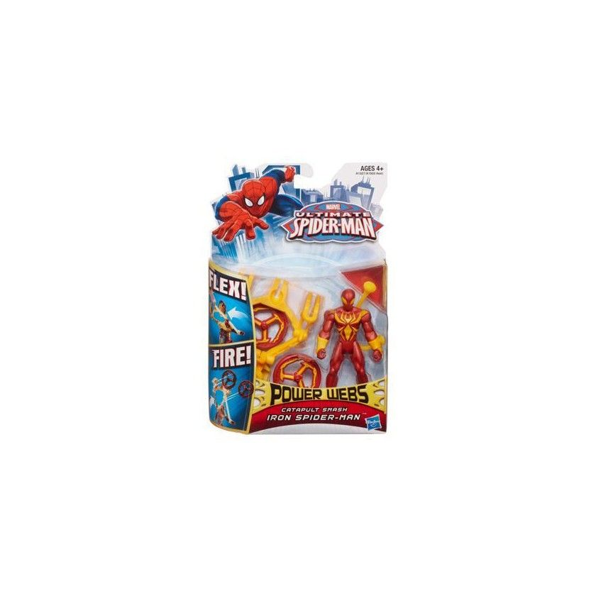 Ultimate Spider-Man - Power Webs - Iron Spider-Man - Catapulte Fracassante