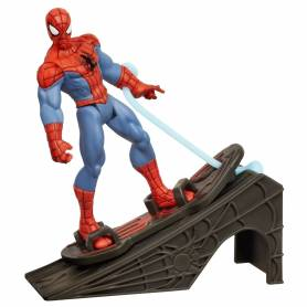 Ultimate Spider-Man - Power Webs - Figurine Spider-Man - Rampe Lance-Bolides - 10 cm