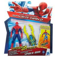 The Amazing Spider-Man - Spider Strike - Figurine Spider-Man Planeur d'Attaque - 10 cm