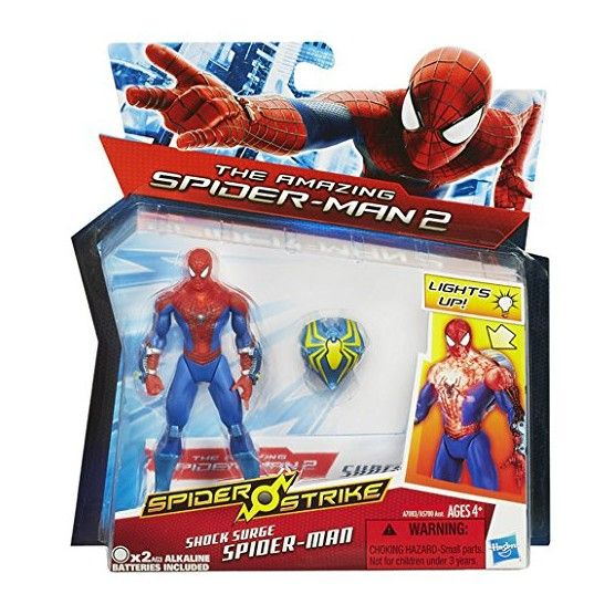 The Amazing Spider-Man - Spider Strike - Figurine Spider-Man Décharge Electrique - 10 cm