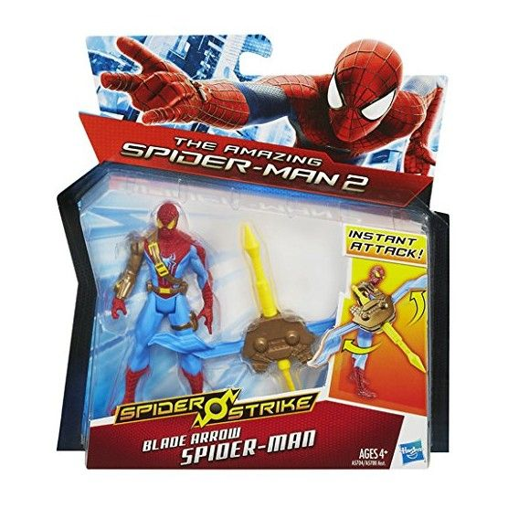 The Amazing Spider-Man - Spider Strike - Figurine Spider-Man Flèches Tranchante - 10 cm