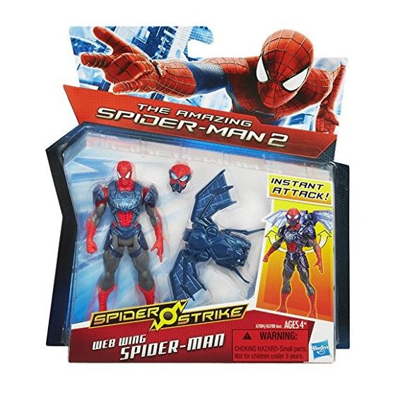The Amazing Spider-Man - Spider Strike - Figurine Spider-Man - Ailes en Toiles - 10 cm