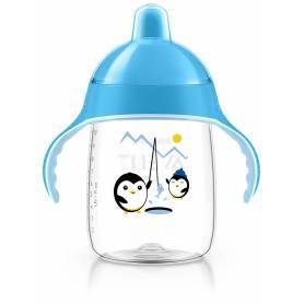 Philips Avent - Tasse bec anti-fuites Pingouin Bleu - 340 ml - 18 mois +