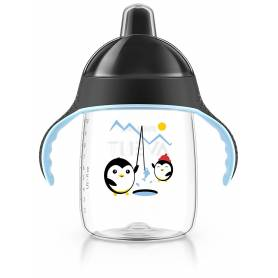 Philips Avent - Tasse bec anti-fuites Pingouin Noir - 340 ml - 18 mois +