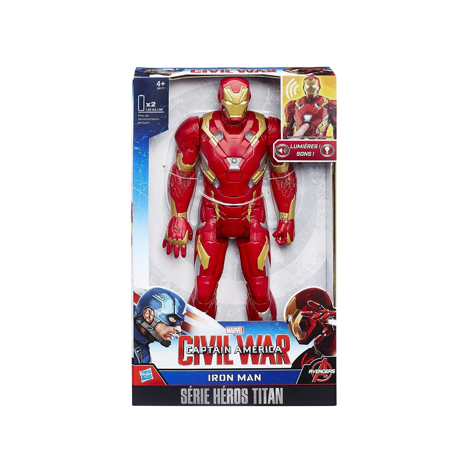 marvel avengers figurine electronique 30 cm iron man. Black Bedroom Furniture Sets. Home Design Ideas