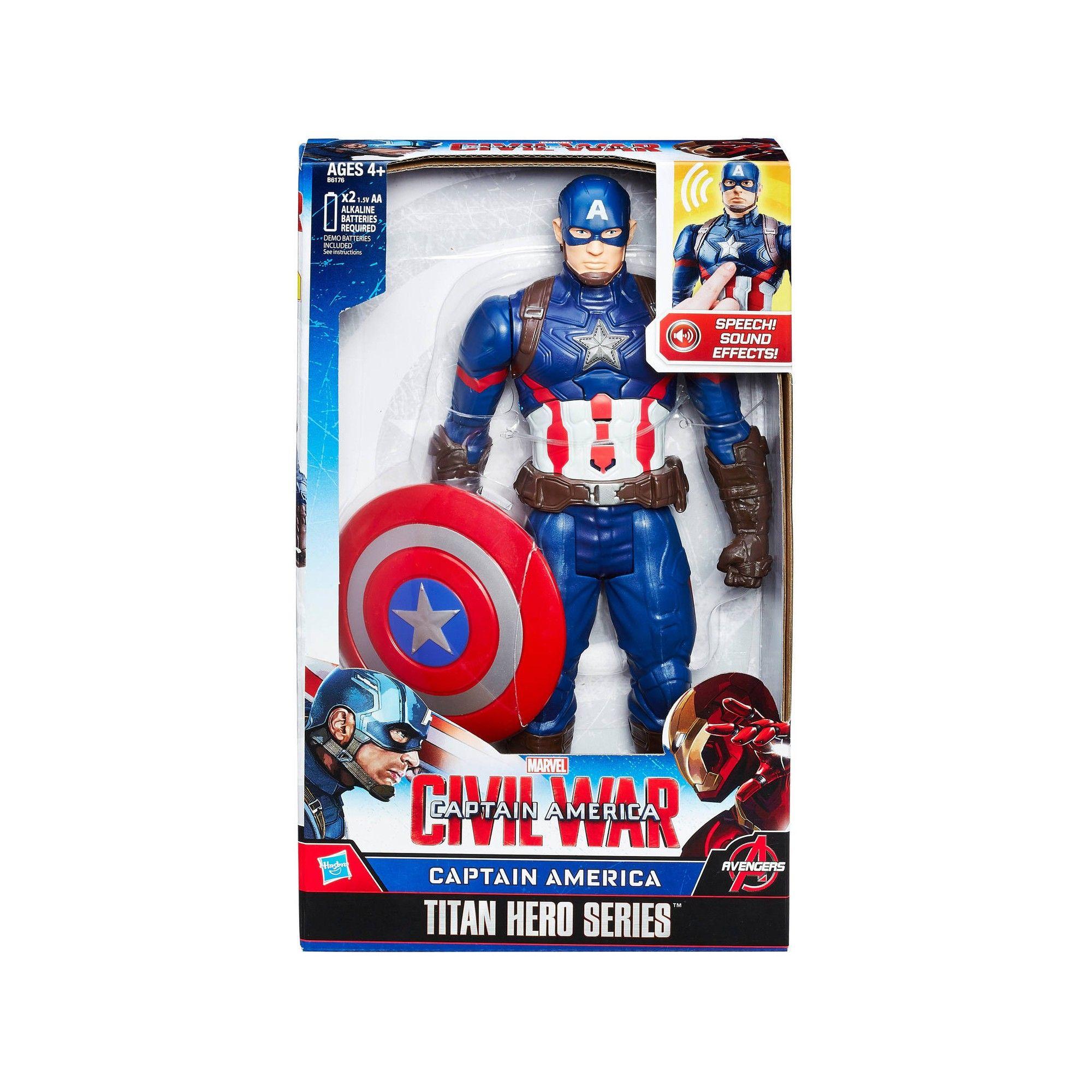 marvel avengers figurine electronique 30 cm captain america. Black Bedroom Furniture Sets. Home Design Ideas
