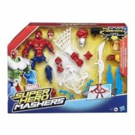 Marvel - Super Hero Mashers - Figurine à Assembler - Spider-Man Attaque Foudroyante