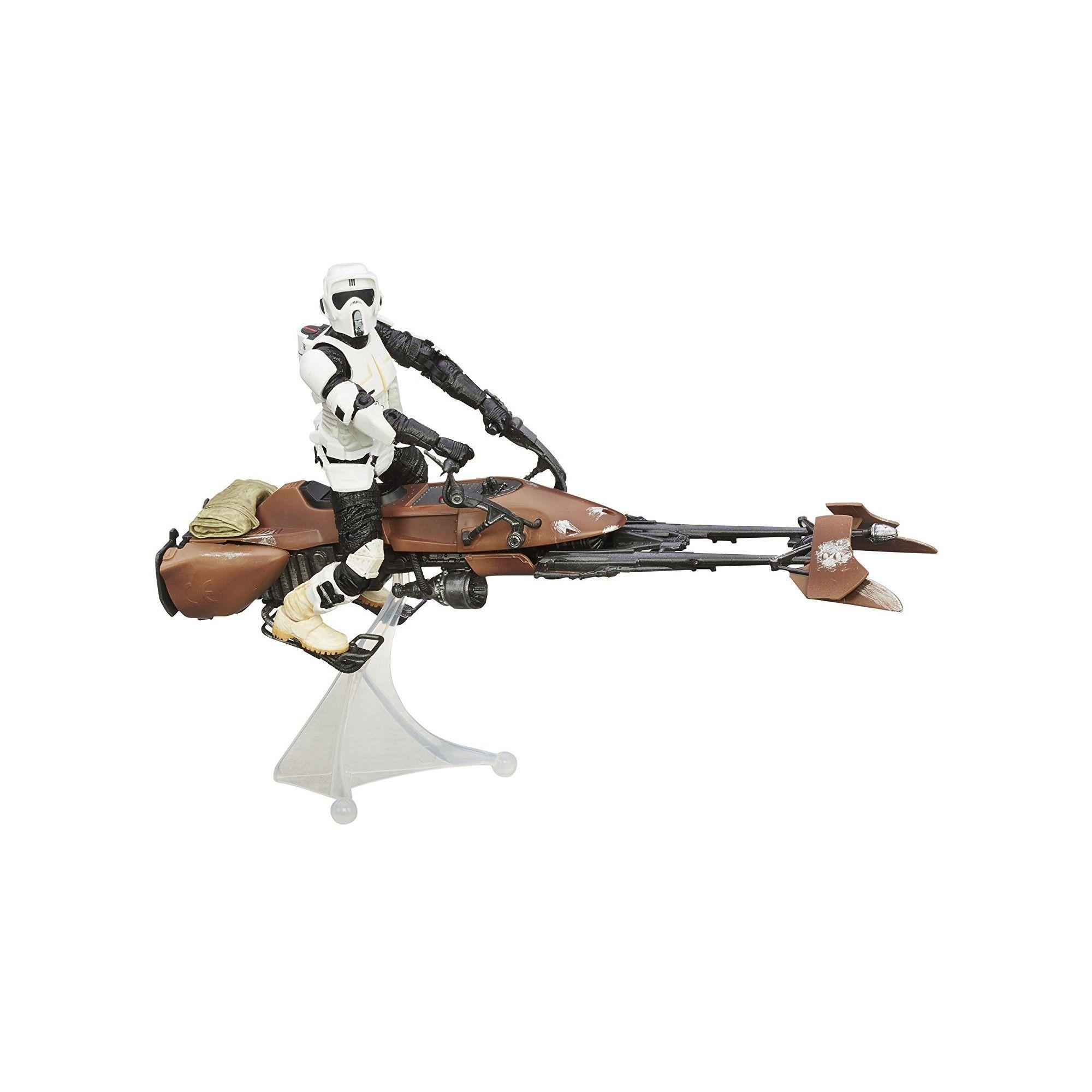 star wars figurine 30 cm et v hicule motojet. Black Bedroom Furniture Sets. Home Design Ideas