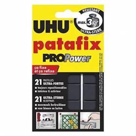UHU - 21 Pastilles Pro Power Résistance Ultra Forte de Patafix Noir