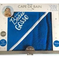 Tom & Zoé - Cape de Bain Prestige Garçon Bleu ou Blanc