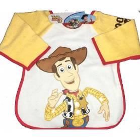 Tablier / Bavoir à Manches plastifié Woody de Toy Story - 37 x 42 cm