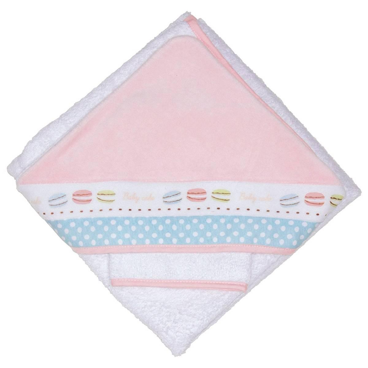 Babycalin - Parure de Bain Macaron - 80 x 80 cm