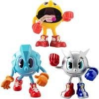 Pac-Man - Pack de 3 Figurines Articulée de 5 cm - Pac, Pac Glaçon et Pac Métal