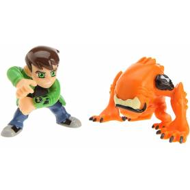 Ben 10 - Pack de 2 Mini Figurines - Ben Tennyson & Wilomutt