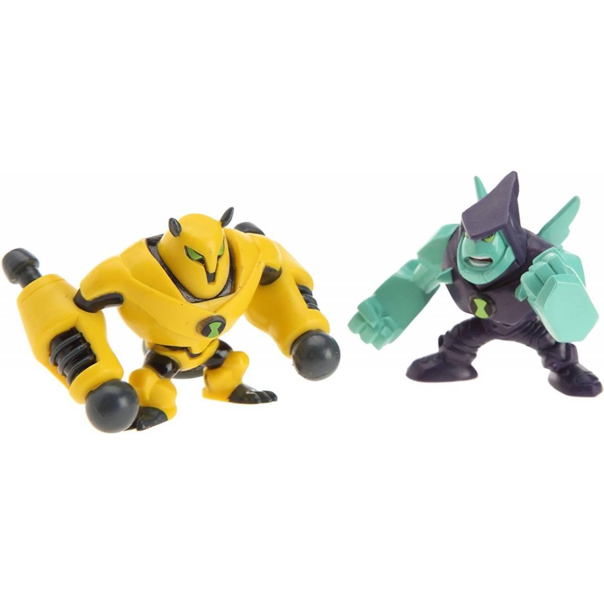 Ben 10 - Pack de 2 Mini Figurines - Armodrillo & Diamondhead