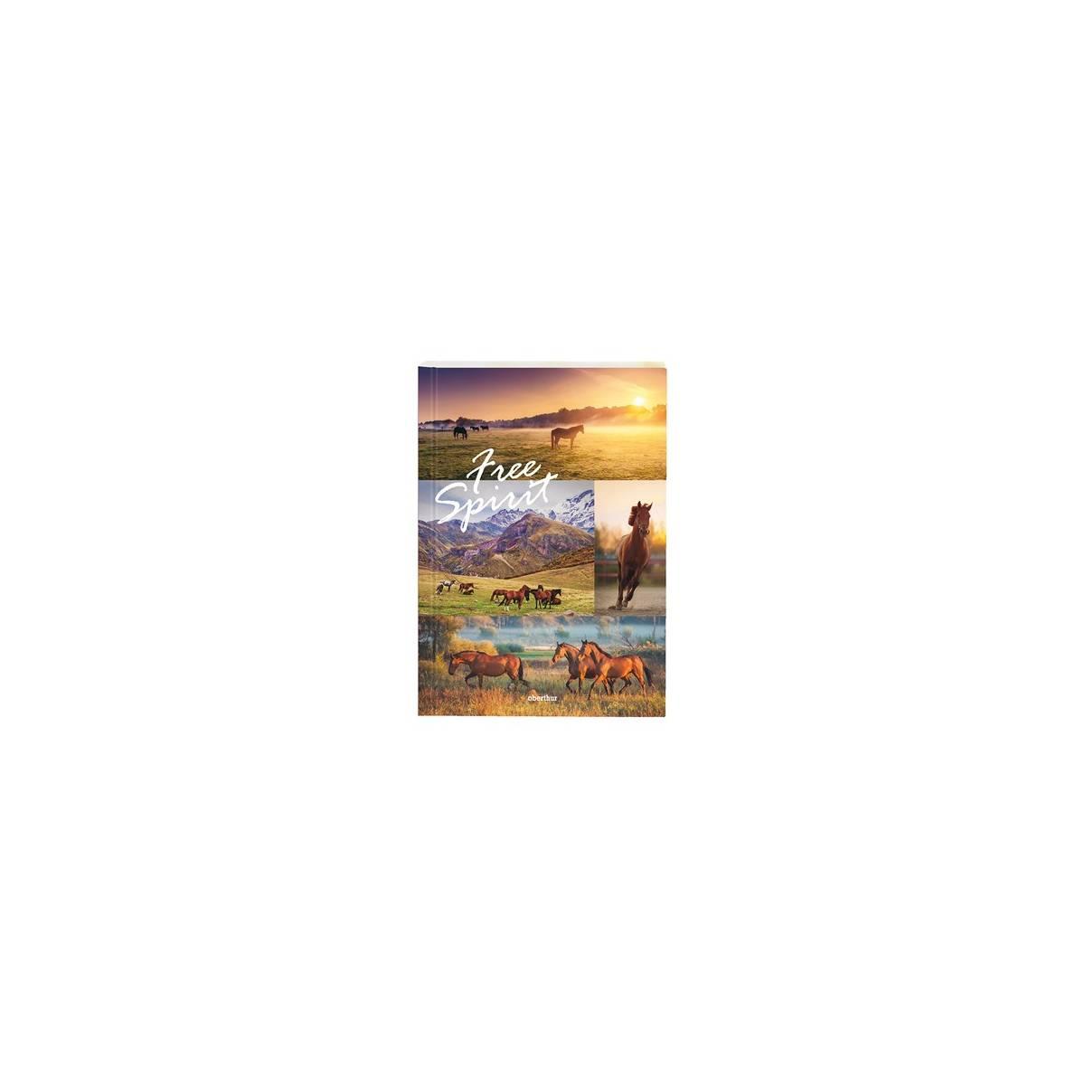 Oberthur - Cahier de Texte Rigide Cheval Free
