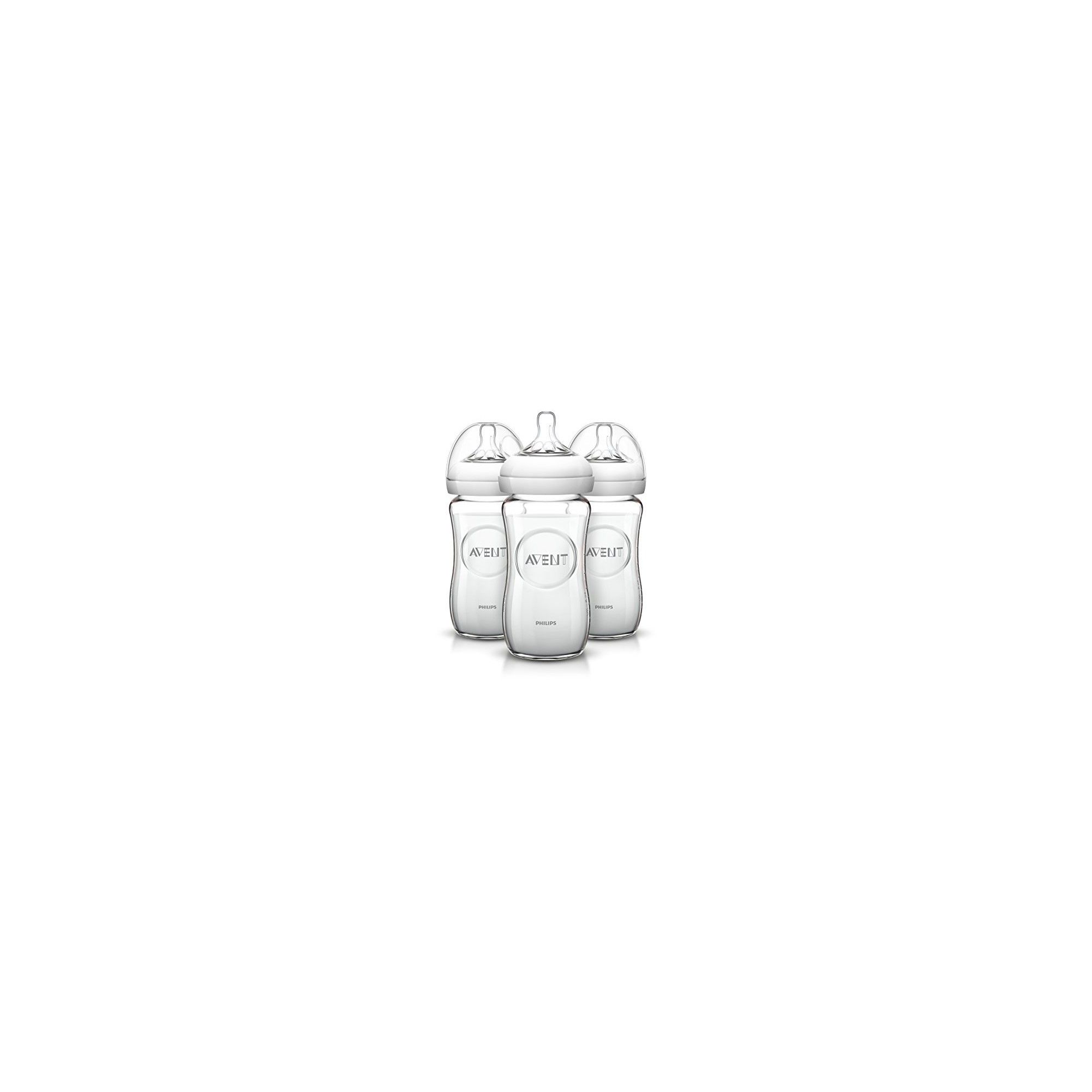 philips avent lot de 3 biberons verre natural 240 ml. Black Bedroom Furniture Sets. Home Design Ideas