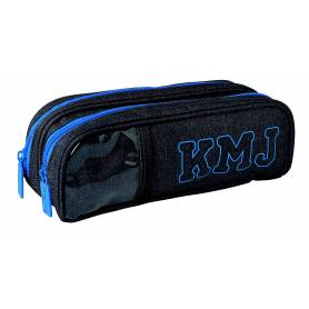 Little Karl Marc John Boy - Pencil Case 2 Compartments - Gray / Blue
