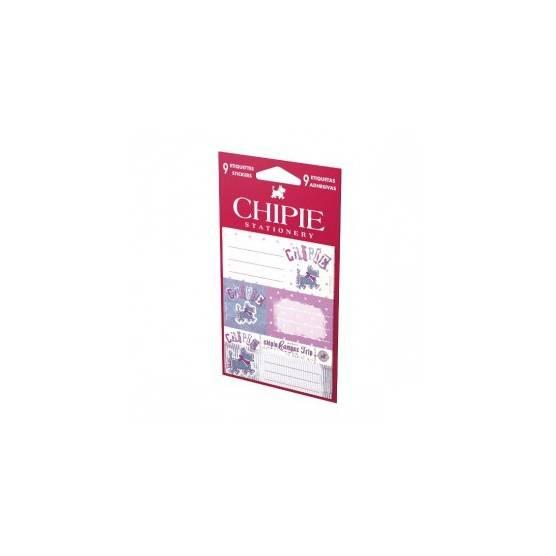 9 Etiquettes autocollantes Chipie