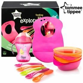 Tommee Tippee Explora - Kit Repas 6 mois + Fille - Tasse, Bavoir