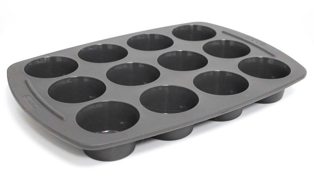 tefal jamie oliver moule en silicone de 12 compartiments muffins. Black Bedroom Furniture Sets. Home Design Ideas