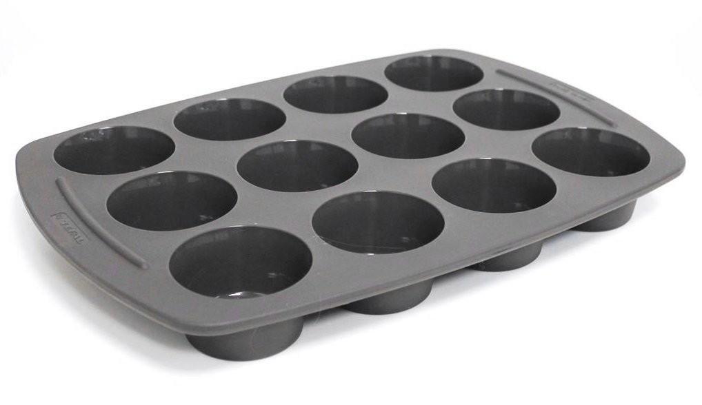 tefal jamie oliver moule en silicone de 12 compartiments muffins. Black Bedroom Furniture Sets. Home Design Ideas