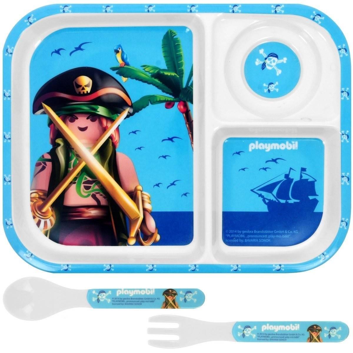 Playmobil - Set Déjeuner Pirate - Plateau + Couverts - Bleu
