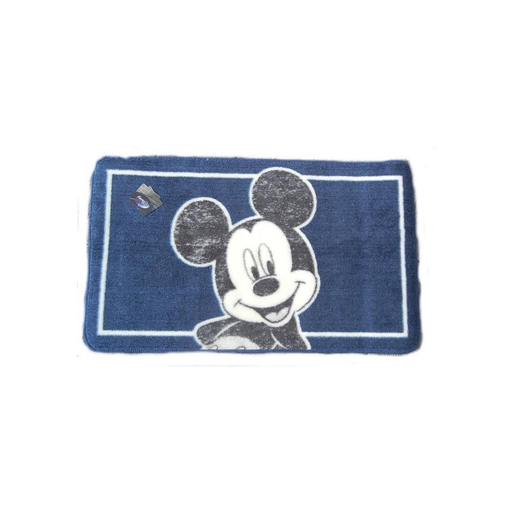 mickey mouse tapis de bain 50 x 85 cm bleu clair. Black Bedroom Furniture Sets. Home Design Ideas