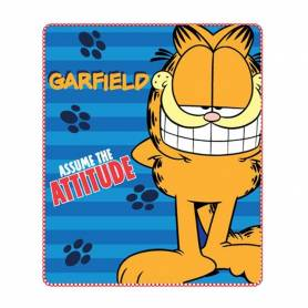 Garfield - Plaid Couverture Polaire Enfant - 120 x 140 cm