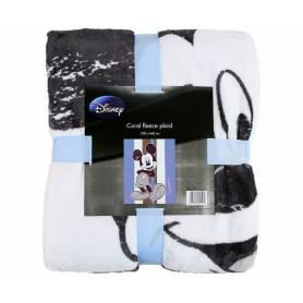 Mickey - Plaid Bleu et Taupe 130 x 160 cm Ultra Doux - Disney