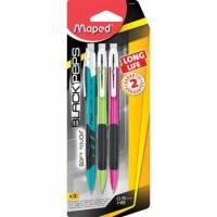MAPED - 3 Portes-mine Black Pep's LONGUE LIFE 0,5mm